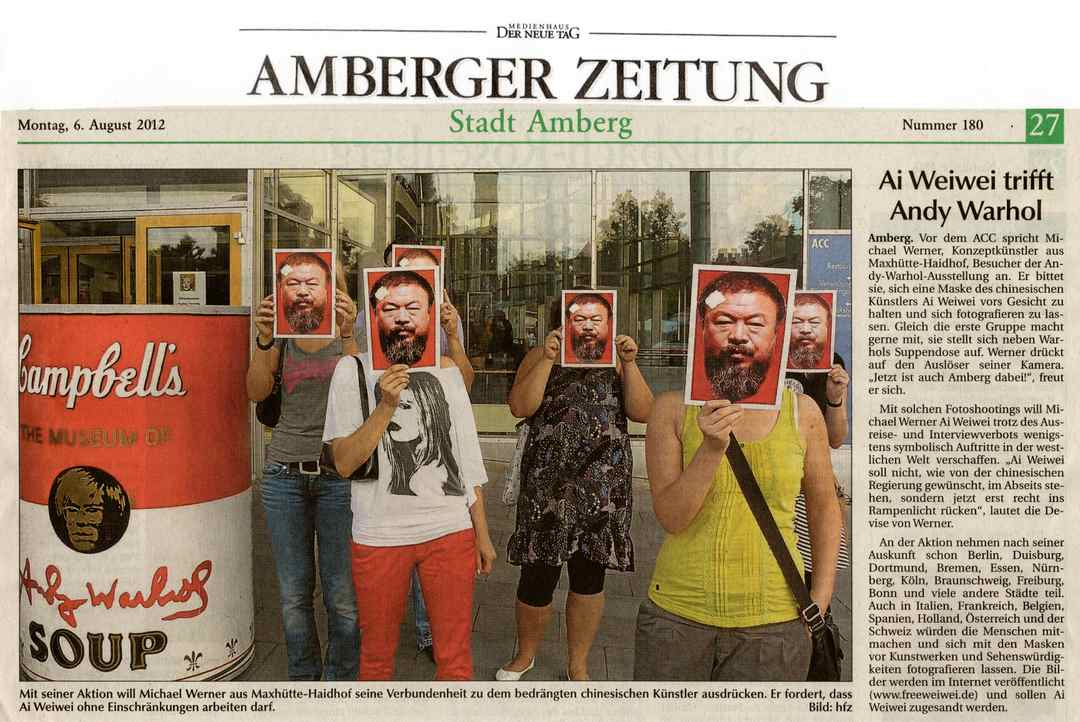 Michael Werner, Ai Weiwei, Andy Warhol in Amberg
